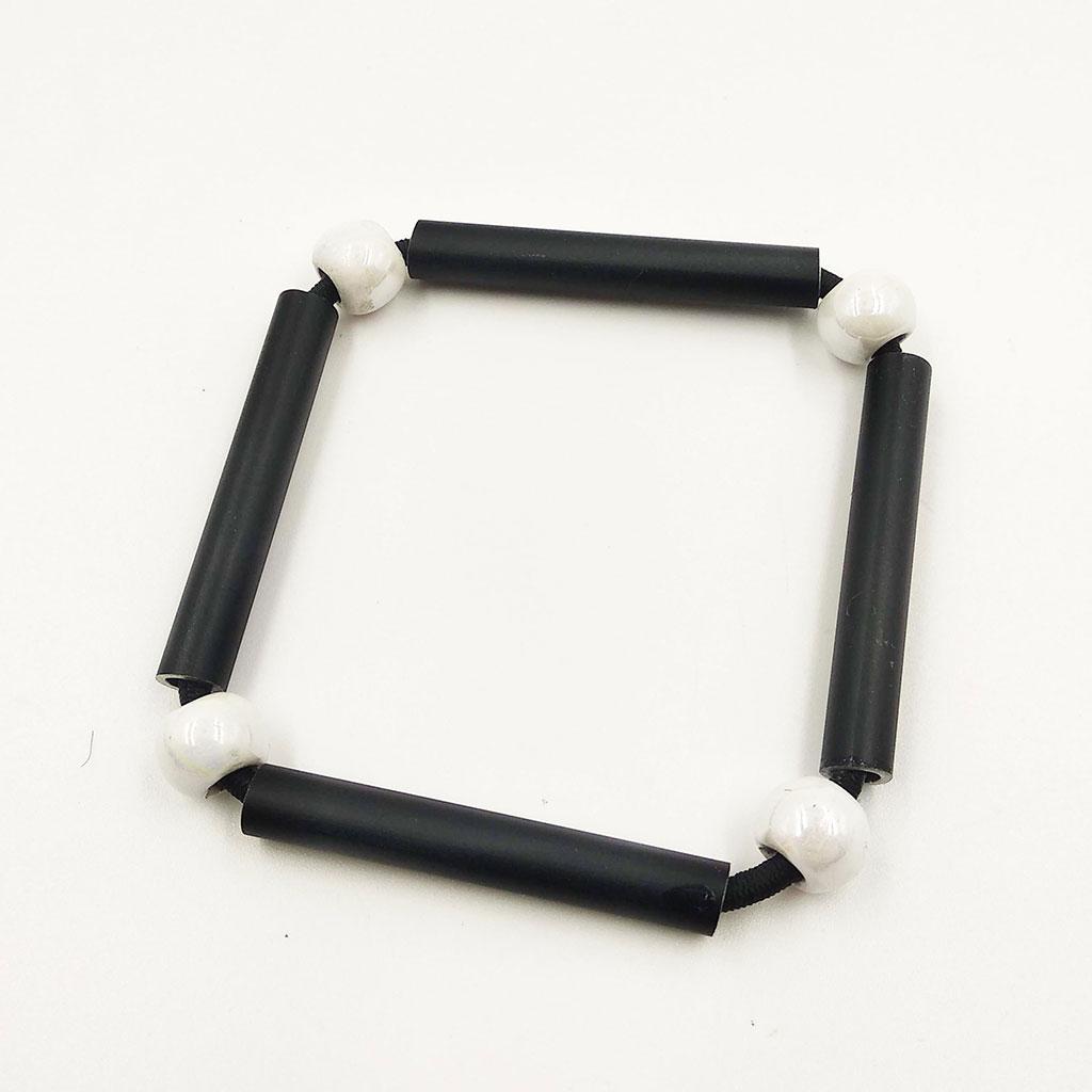 CHRISTINA BRAMPTI Aluminium squares bracelet (black)