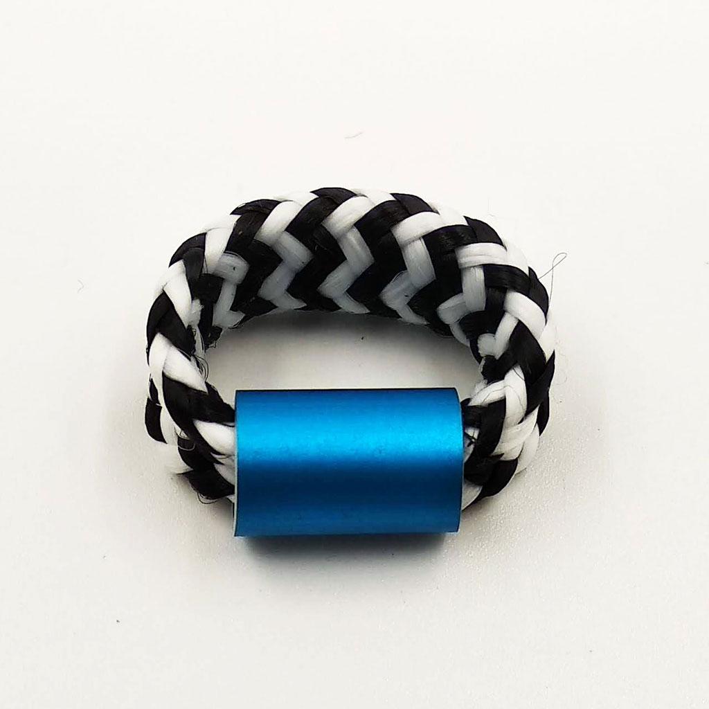 CHRISTINA BRAMPTI Elastic cord ring (blue)